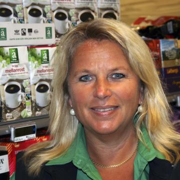 Butikschef Helene Sandberg, Coop Älvsjö jpg