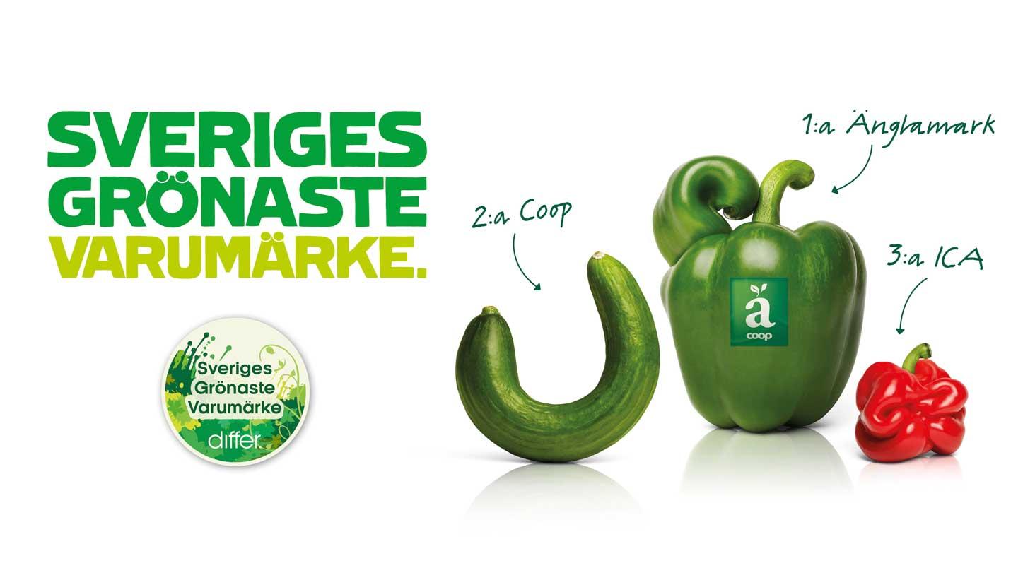 Dubbel seger för Änglamark och Coop – utsedda till Sveriges grönaste varumärken