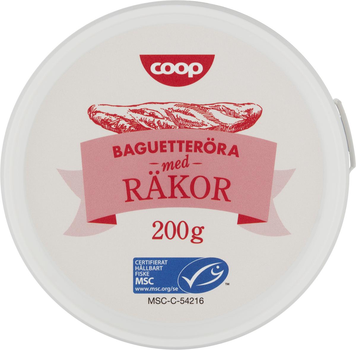 Coop Baguetteröra med Räkor, MSC-märkt