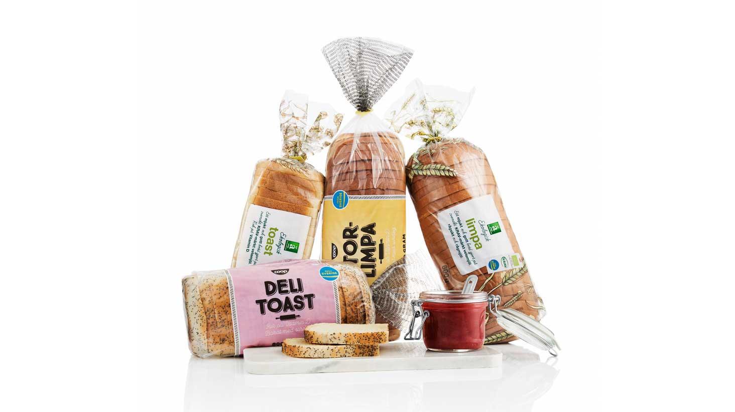 Ljusa, skivade och naturligt D-vitaminrika bröd för barnfamiljen