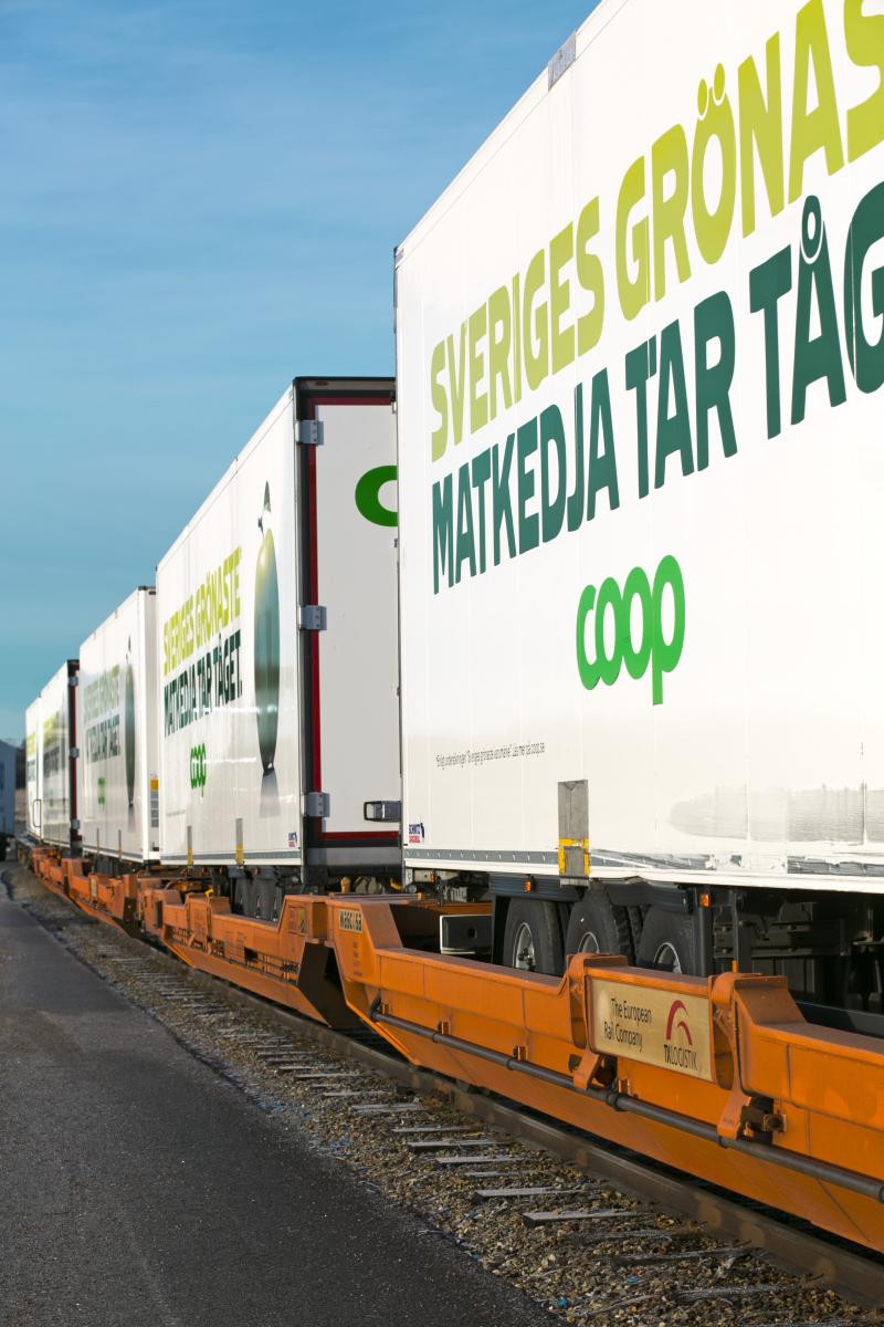 Sveriges grönaste matkedja tar tåget, Bro terminal