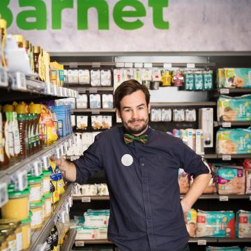 Felix butikschef gång