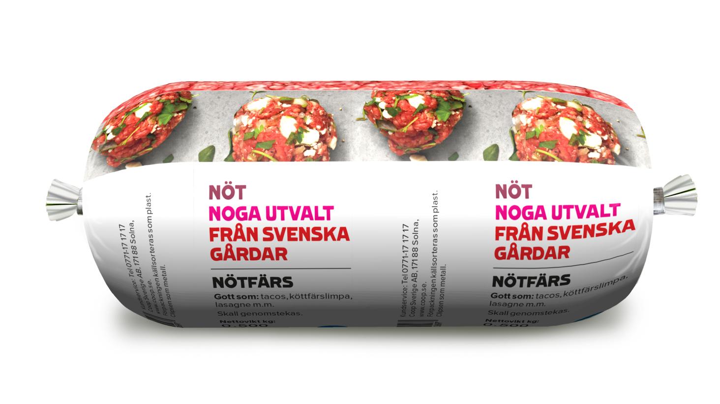 Köttfärs på rulle – ny smartare förpackning som ger stora vinster för miljön