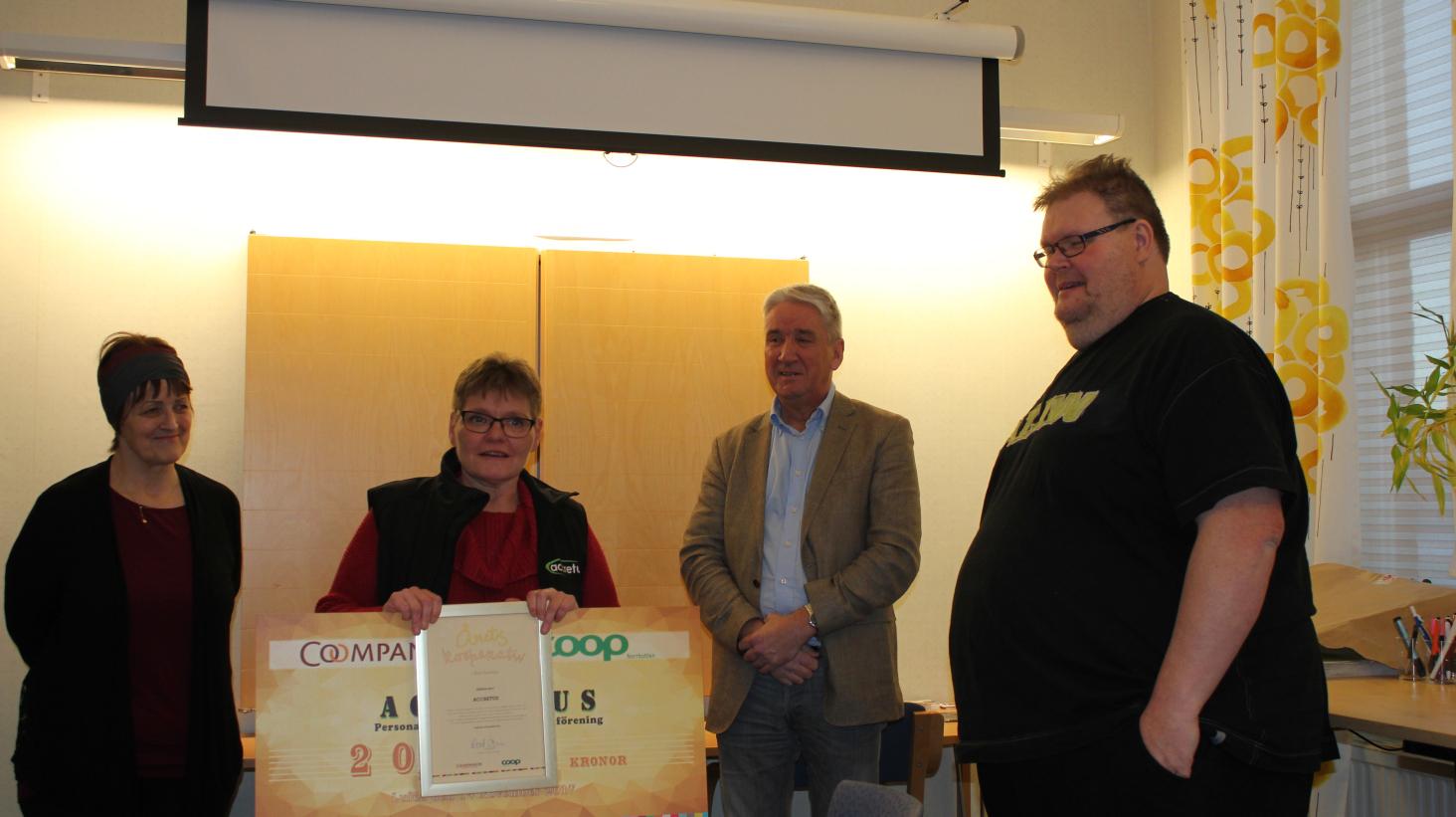 Accretus får utmärkelsen årets kooperativa verksamhet i Norrbotten