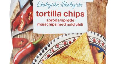 Coop återkallar Änglamark tortillachips med mild chili