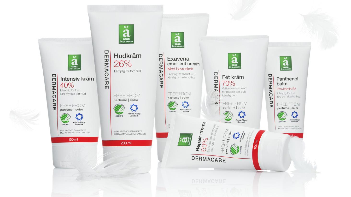 Coop lanserar Svanenmärkt hudvård