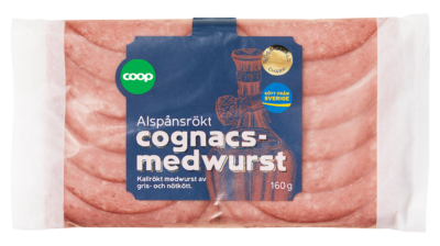 Coop återkallar alspånsrökt cognacsmedwurst