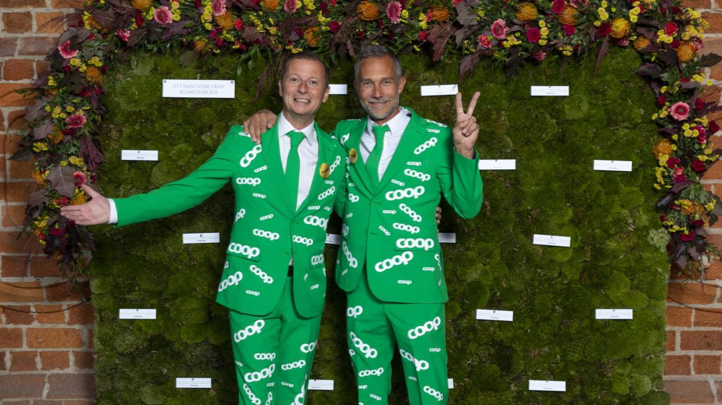 Carl-Johan Stålhammar, vd Coop Gotland och Markus Wahlberg, butikschef Stora Coop Visby.