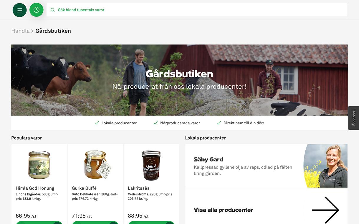 Coop öppnar gårdsbutik på nätet