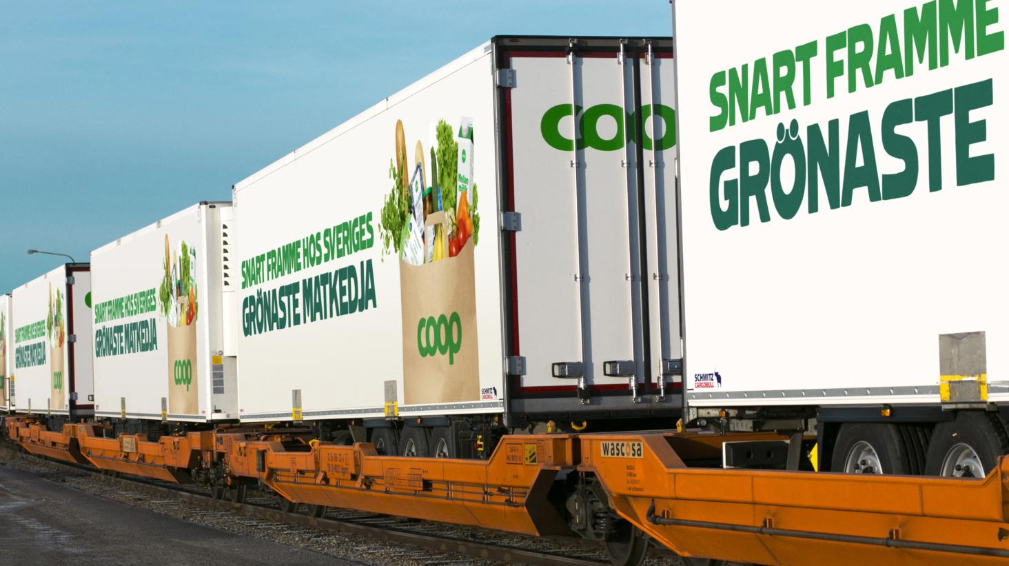 Miljön vinnare när Coop ökar tågtransporterna