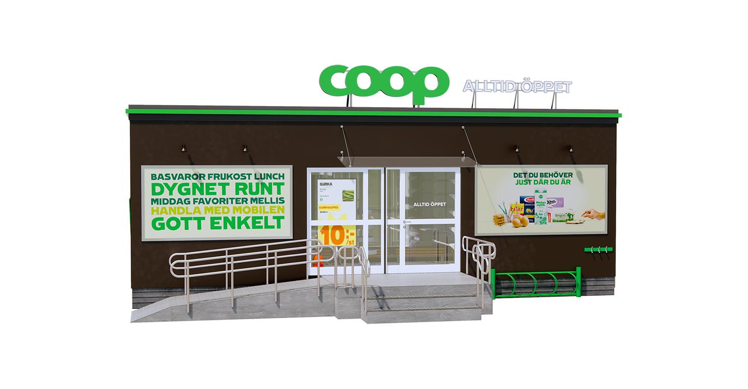 Coop öppnar obemannade butiker i år