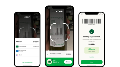 Coop presenterar ny tjänst för självscanning med mobil