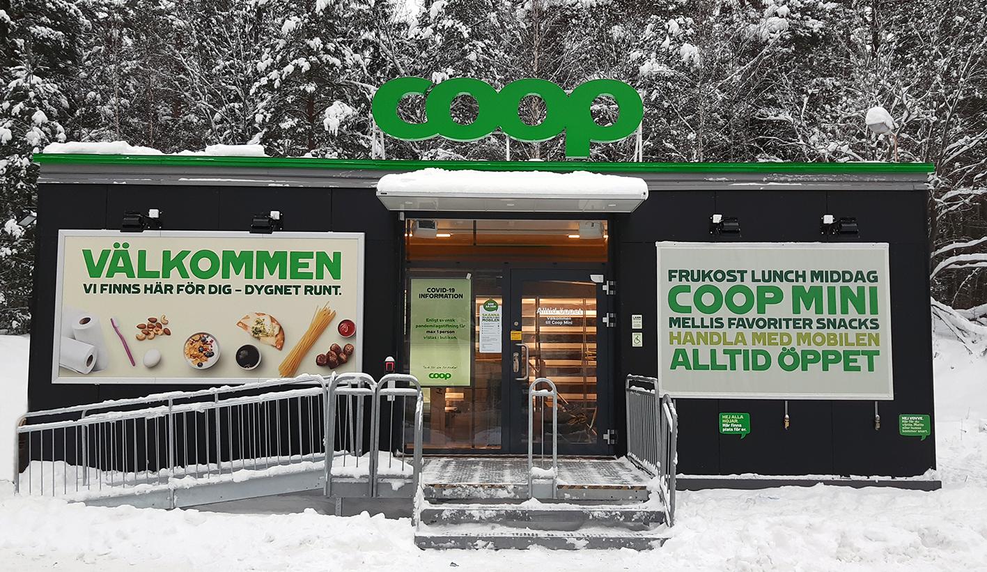 Premiär för Coops första obemannade butik: Coop Mini