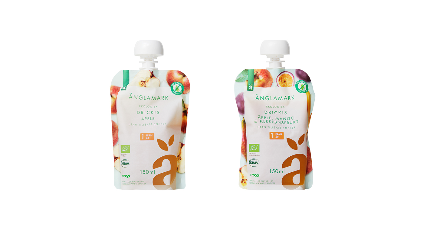 Coop lanserar ekologiska fruktdrycker för barn
