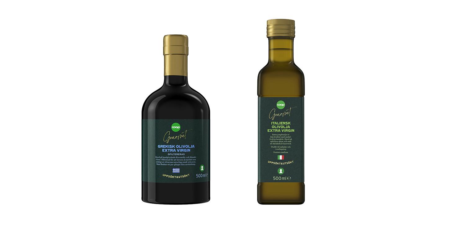 Coop lanserar olivoljor under premiumkonceptet Coop Gourmet